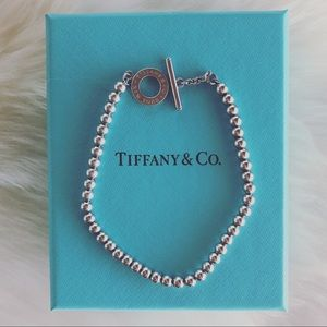 Tiffany & Co. Mini Bead Toggle Bracelet 7.25""